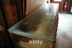 Antique Wood Glass Mercantile Store Showcase Display Cabinet Haberdashery VTG