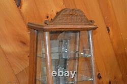 Antique ZENO Chewing Gum Countertop General/Country Store Display Cabinet Case