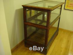 Antique general store display case cabinet cigar counter