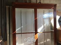 Antique store display case. Oak bookcase store fixture. Mercantile furniture