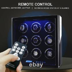 Auto Watch Winder Box 9 Watches Winder Storage Case withLCD Touch Screen Display