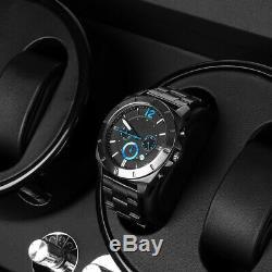 Automatic 4+6 Watch Winder Display Box Motor Rotation Storage Case PU Leather