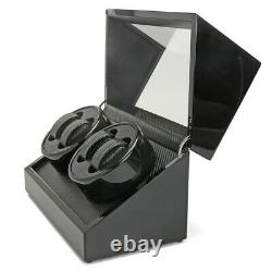 Automatic Rotation Watch Winder Carbon Fiber Jewelry Storage Case Display Box