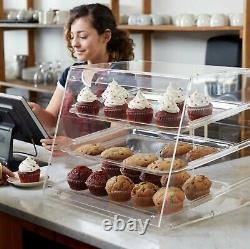 Bakery Counter Display Case Rear Door Donut Pastry Cookie Hotel Store 3 Tray NEW