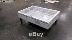 Beach House Coffee Table Glass Top Storage Table Military Display Case 9 Pane