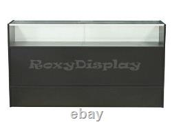 Black Jewelry Showcase 70 Display Store Fixture Knocked Down #SCJ6BK-SC
