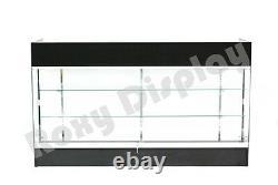 Black Ledgetop Counter Display Showcase Store Fixture Knock Down #LTC-GL6BK-SC
