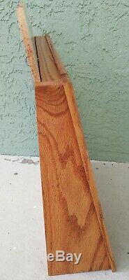 Boker Tree Brand Knive Wooden Display Case Countertop Knife Storage Wood Oak Vtg