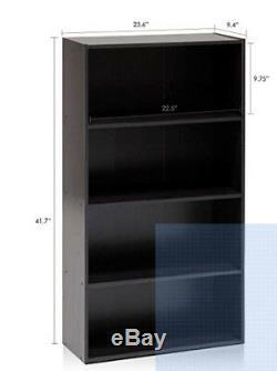 Bookcase 5-Shelf Adjustable Bookshelf Book Magazine Display Storage Organizer