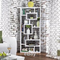 Bookshelf Room Divider Wall Display Shelf Wood Curio Modern Storage Furniture