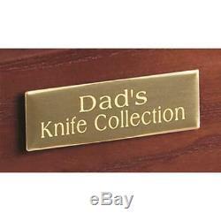 CASTLECREEK Collectors Cabinet Display Case Storage Safe Home Security Wood
