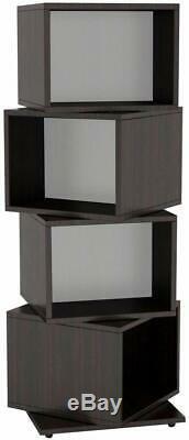 CD Tower Rack DVD Holder Media Storage Disk Case Display Space Organizer Wooden