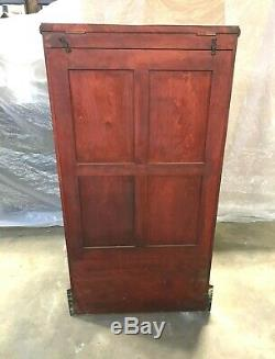 Cherry Walking Cane Display Case, Mfg. Waco, TX, Country / General Store