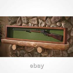 Collector Gun Sword Display Case Wood Wall Mount Storage Rifle Rack Glass Lid