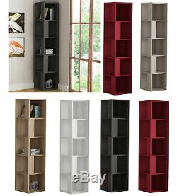 Corner Bookcase Display Shelf Shelves Rack Library Storage Holders Organiser