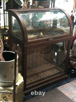 Country GENERAL Store DISPLAY OAK CANE CASE 1900s CABINET