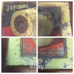 Country Store J&P Coats Spool Display 21.75x16.25