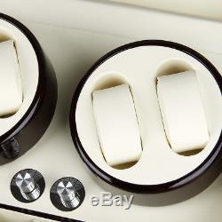 Deluxe Wood 4+6 Watch Display Box Case Automatic Watch Winder Organizer Storage