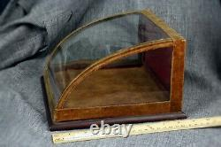 Diminutive Antique Curved Glass Showcase Country Store Display Case