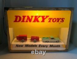 Dinky Toys Vintage Lighted Display Case / Store Display
