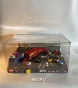 Disney/pixar Cars 2 Lego Lighted Store Display Case Sets 8486,8424,8201,8206