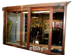 Early 20th c. Country Store Nickel/Bronze Tabletop Double Showcase Display Case
