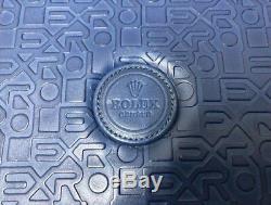 Empty Watch Jewelry Case ROLEX Storage Box Display Blue H4xW12xD8 inches Used