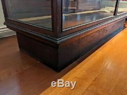 General Store Display Case Cabinet Vintage Country Store Glass Display