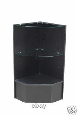 Glass Wood Black Showcase Display Case Store Fixture Knocked Down #PCM-CBK