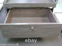 Grey Retail Merchandise Store Fixture 4 Compartment & Drawer Combo Stand