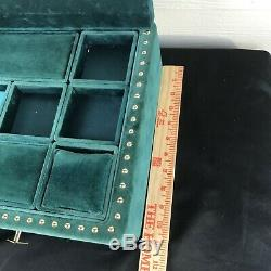 Gucci Store Display Watch Case Green Velvet Gold Bee Drawer Pulls Very Large