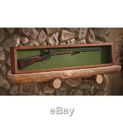 Gun/Sword Display Case Glass Lid Wood Walnut Storage Home Room Decor Lockable