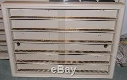 HAND MADE HO SCALE TRAIN WALL HANGING DISPLAY CASE HIGH QUALITY STURDY 34 x 25