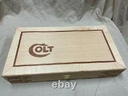 Hand Crafted Colt Solid wood Storage boxes, gun case, display box. Maple