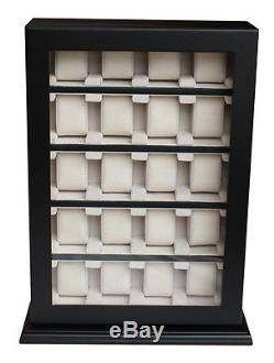 Hand Made Watch Cabinet Luxury Case Storage Display Box Jewellery Watches 12