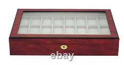 Hand Made Watch Cabinet Luxury Case Storage Display Box Jewellery Watches L