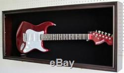 Hanging Electric Guitar Display Case Cabinet Wall Mount Lockable Storage Holder