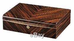 High Quality VOLTA Ebony Wood 10 Watch Display Case / Storage Box White Interior