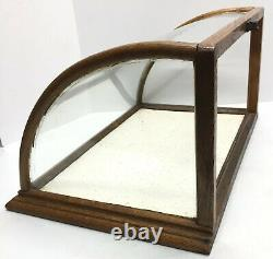 J. Riswig 208&210 Randolphst Chewing Gum Curved Glass Store Display Case Antique