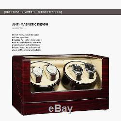 JQUEEN Watch Winder, Automatic Watch Winder Box Storage Display Box Case 4+0