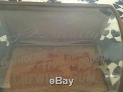 Jp Primleys Gum Case By J. Riswig Curved Glass Store Display Case Antique