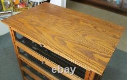 LARGE Antique 1880s A. N. RUSSELL & SONS Oak Country Store RIBBON DISPLAY CABINET