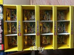 LEGO 71001 Minifigures Series 10 MR. GOLD store display case with 12 random pack