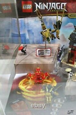 LEGO Ninjago Legacy Sets 70659 70666 70670 Store Display Case Dragon Spinjitzu