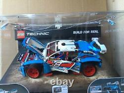 LEGO Technic Rally Car set 42077 Store Display Case with Working Lights