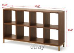 LP Vinyl Record Storage Cabinet Album Display Rack Shelving Book Case Cube Brown