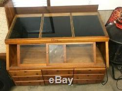Large Vintage CASE XX CUTLERY Knife Store Floor Wooden Display Case 9 Drawer