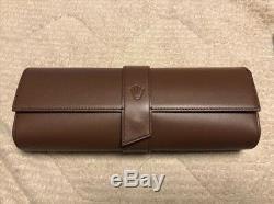 Leather Watch Case Rolex Empty Box Display Storage 10x4 inches Unused Rare Japan