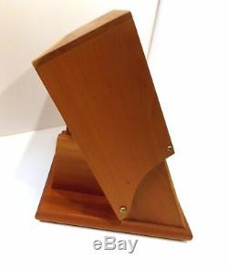 Levenger Well-read Life Wood 16 Pen Holder Storage Display Case Desk Accessory