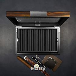 Lifomenz Co Pen Display Box Ebony Wood Pen Display Case, Fountain Pen Storage Pen